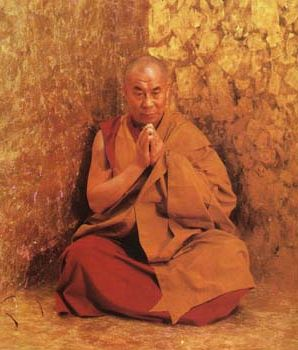 His Holiness the Dalai Lama in meditation