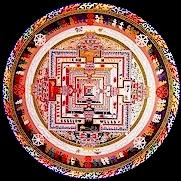 Kalachakra Full Body, Speech and Mind Sand Mandala; click to see a large interactive version